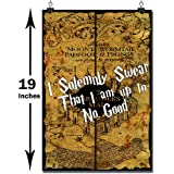 Happy GiftMart WB Official Licensed Harry Potter Marauders Map I Solemnly Swear I Am up to No Good Poster (Paper, 13 x 19 Inches, Multicolour)
