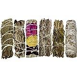 Smudge Kit - 6 Smudge Sticks Smudging Kit - Sage Kit Includes White Sage, Lavender Smudge Stick, Blue Sage, Yerba Santa…