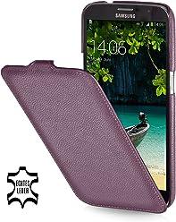StilGut UltraSlim Case, custodia in vera pelle per Samsung Galaxy Mega 6.3 i9200 Mega LTE i9205 i9208, porpora