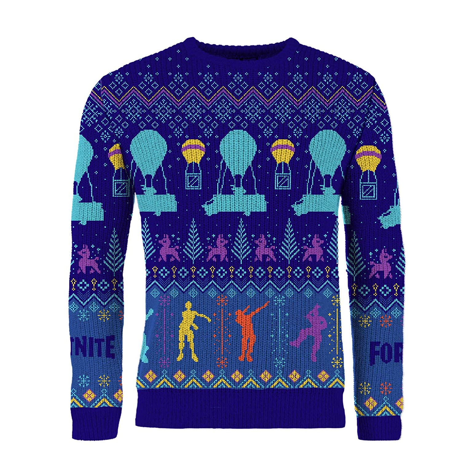 Fortnite Official Merchandise Jumper Christmas Jumpers for Boys and Men Xmas Floss Like a Boss Boys Fortnight Gaming Geek Gamer Clothing