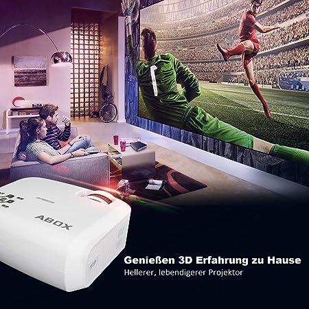 Proyector, Abox T22 Full HD Proyector Mini Cine en casa LED ...
