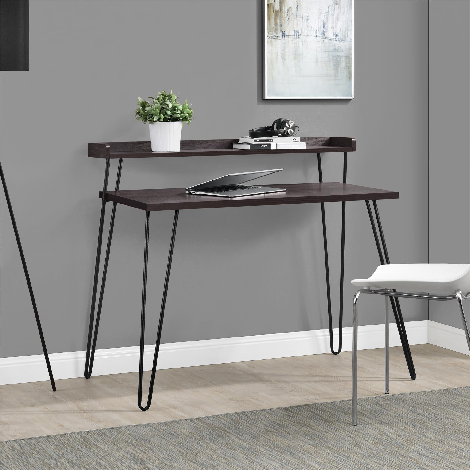 Ameriwood Home Haven Retro Desk with Riser, Espresso by Ameriwood Home