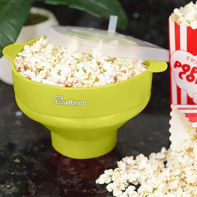 Faltbare Sch/üssel Casual Orange Silikon Popcorn Maker salbree Mikrowelle Popcorn Popper