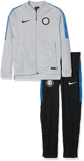 Nike Inter Dry Sqd TRK K Chándal, Hombre, Gris Lobo/Negro/Azul ...
