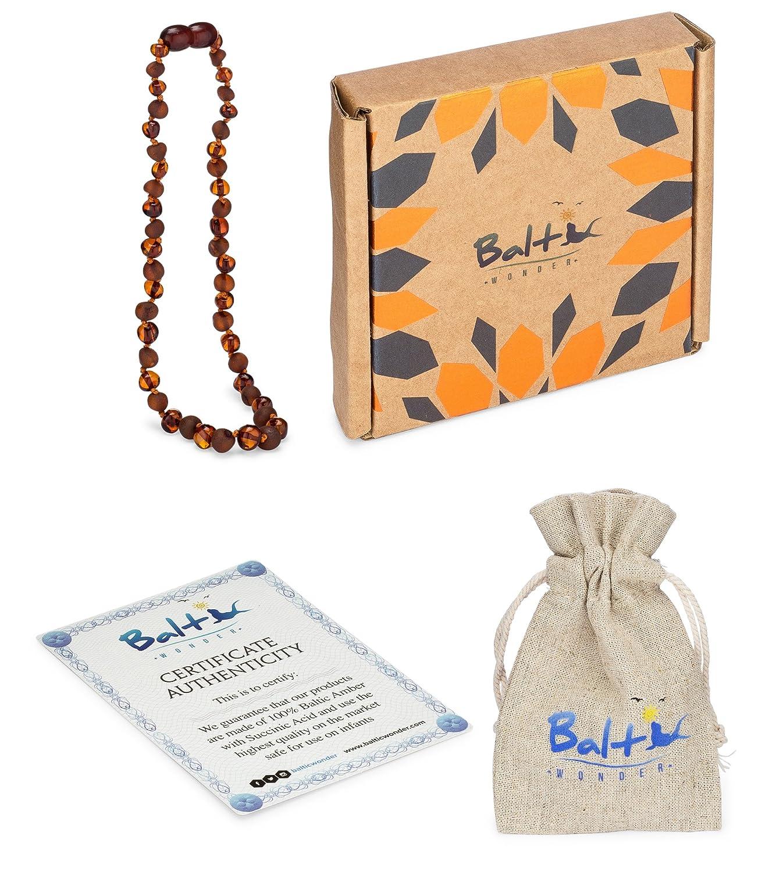 Amazon.com: Collar de dentición de ámbar para bebés (unisex ...