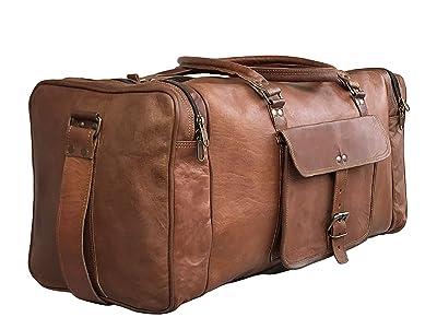24 Inch Genuine Leather Duffel