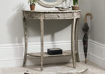 Style vintage shabby chic crème antique style console de couloir