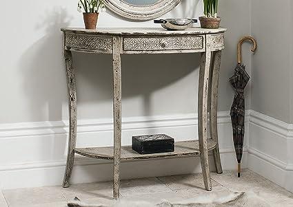 Credenza Shabby Per Bagno : Vintage shabby chic french style cream console corridoio telefono