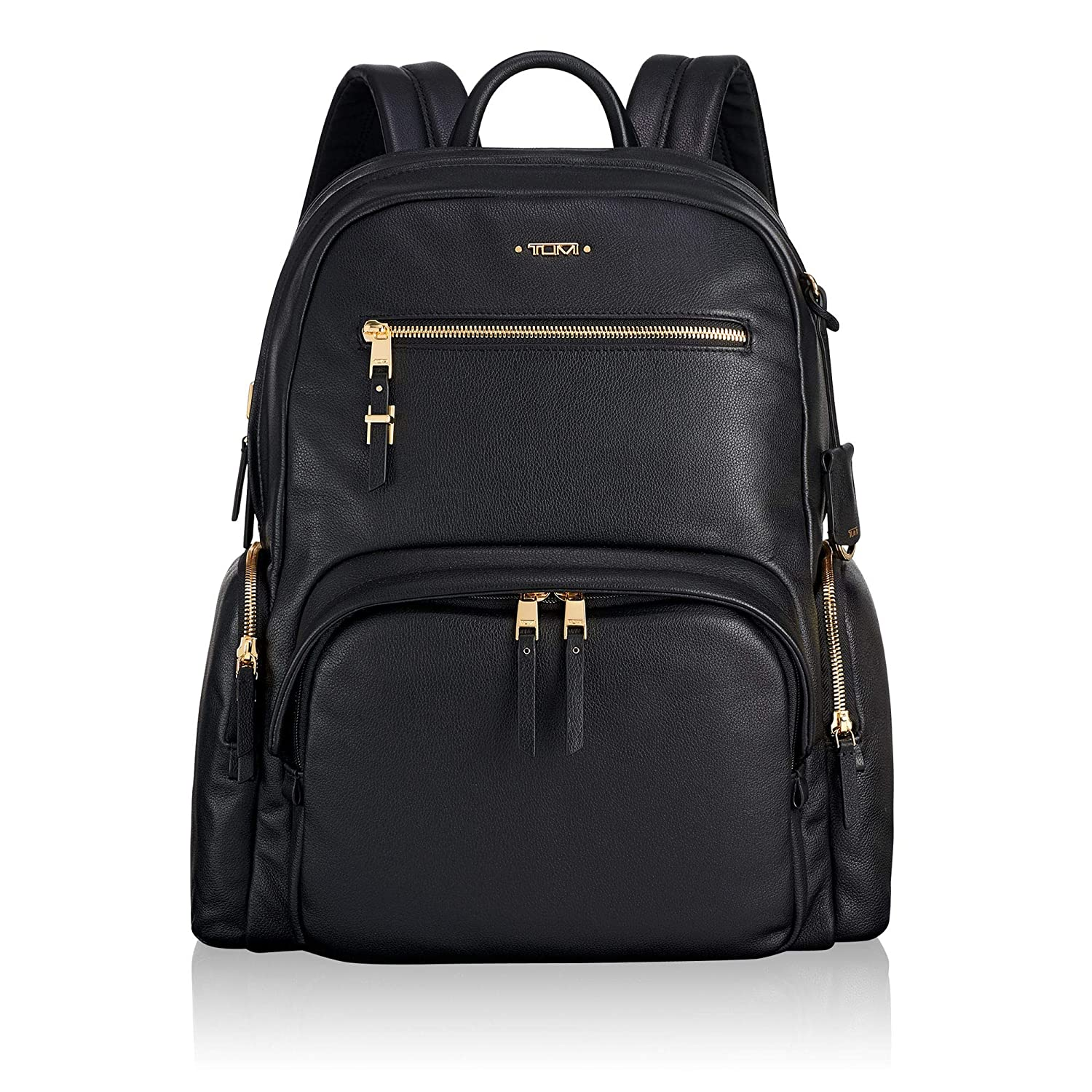6faeb260e1 Amazon.com | TUMI - Voyageur Carson Leather Laptop Backpack - 15 Inch  Computer Bag for Women - Black | Backpacks