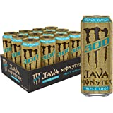Monster Energy Java 300 French Vanilla, Triple Shot, Robust Coffee + Cream, 15oz (Pack of 12)