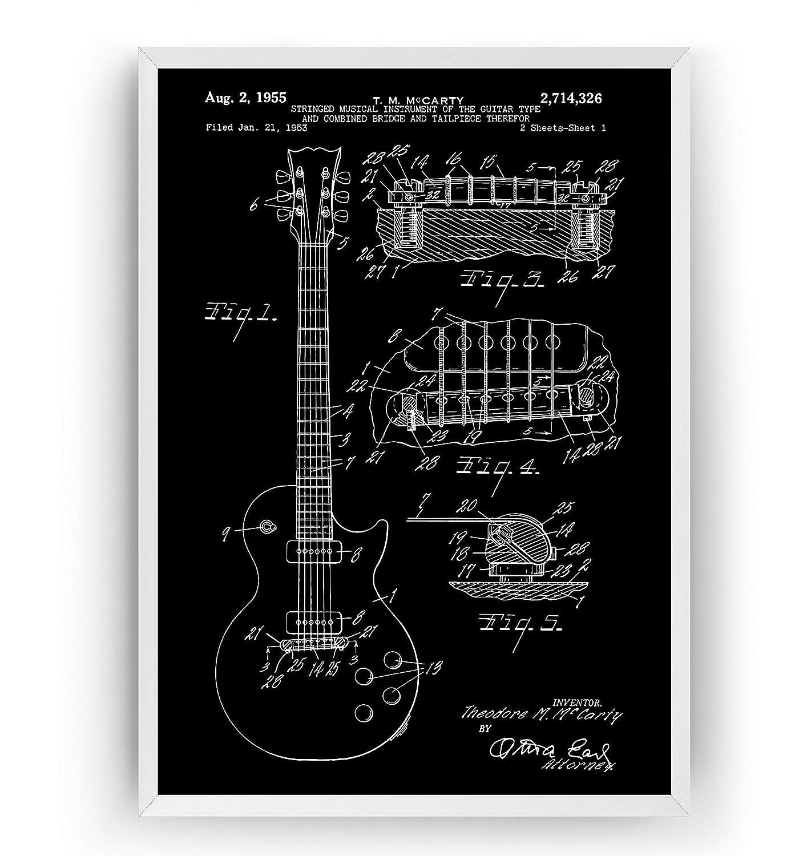 Guitarra Electrica Poster de Patente - Les Paul 1955 - Electric ...