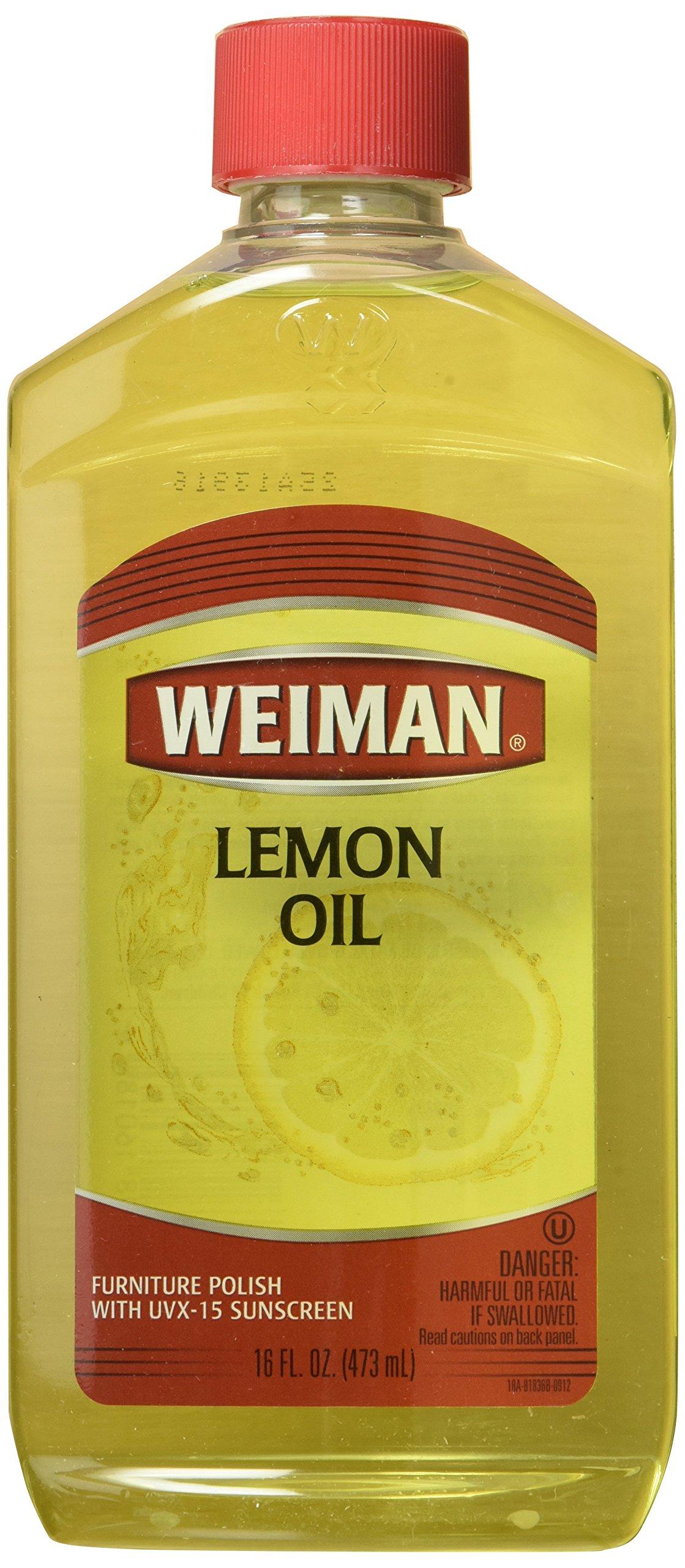 Weiman Furniture Polish Lemon Oil 16 Oz (Pack of 6) by Wieman