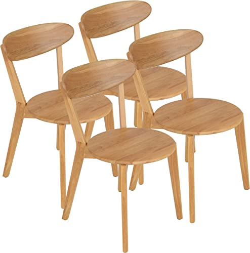 mecor Oak Dining Chairs Set of 4