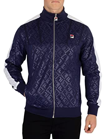 4841ba1a81ae Fila Vintage Men's Palmer AOP Funnel Track Top, Blue: Amazon.co.uk ...