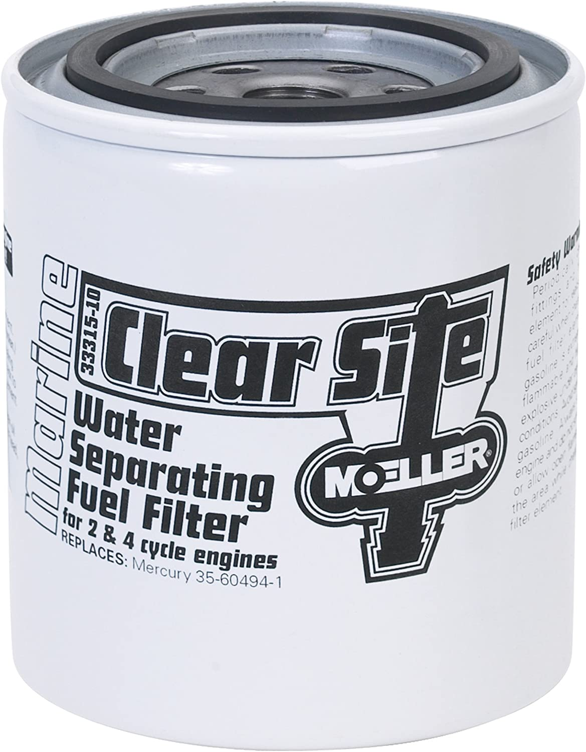 """Moeller Clear Site Water Separating Fuel Filter System 3//8/"""" NPT, Aluminum Boat"""
