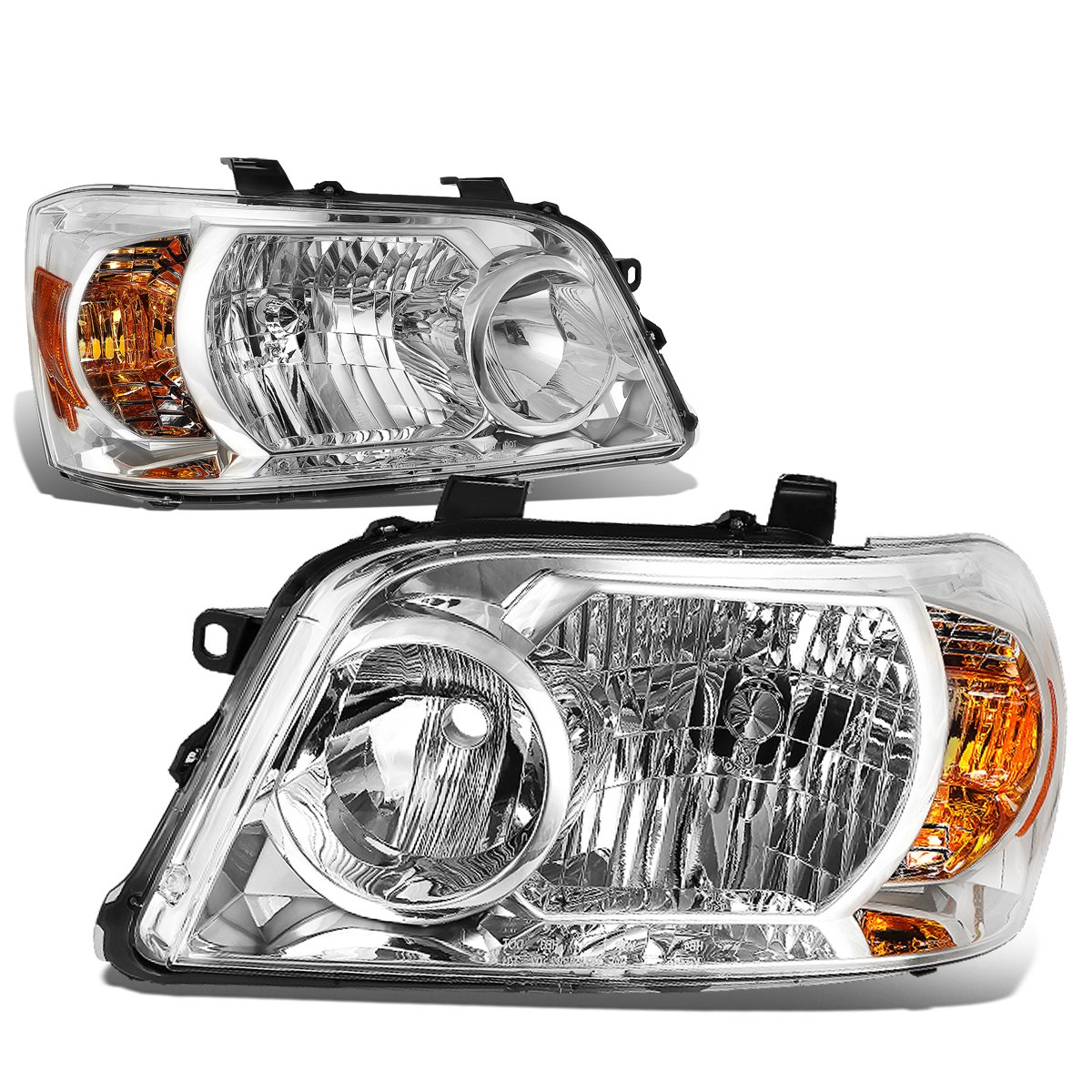 DNA MOTORING HL-OH-097-CH-AM Headlight Assembly Driver And Passenger Side