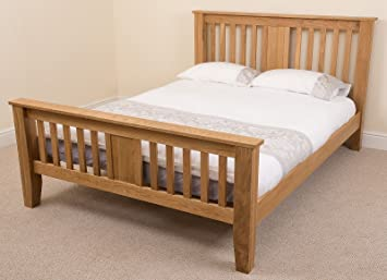Boston 5ft Solid Oak King Size Bed Frame 220 X 164 X 110 Cm