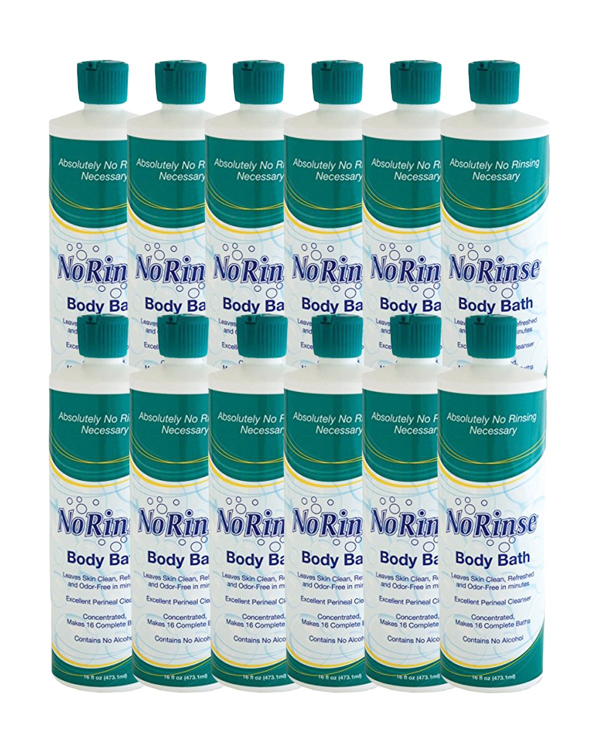 No-Rinse Body Bath, 16 oz (Pack of 12) by No-Rinse (Image #1)