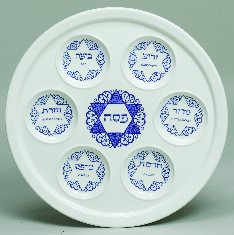Star Of David Porcelain Seder Plate Artistic Design 10