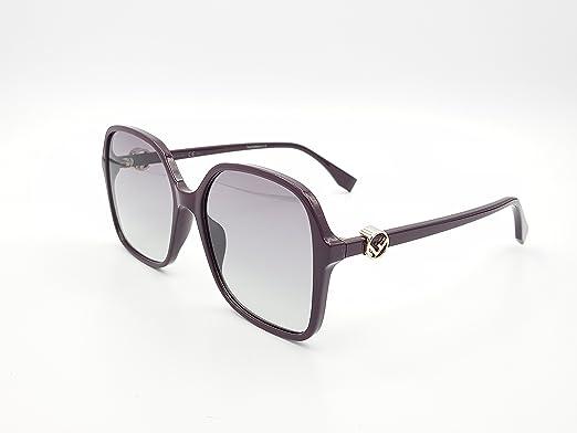7a4d4317938c Fendi F is Fendi Large Square Sunglasses in Plum FF 0287 S 0T7 58 58  Gradient Grey Plum  Amazon.co.uk  Clothing