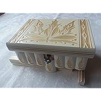 Caja puzzle joyero mágica tesoro blanco misterio de almacenamiento secreto compartimiento de caja de madera decoración…