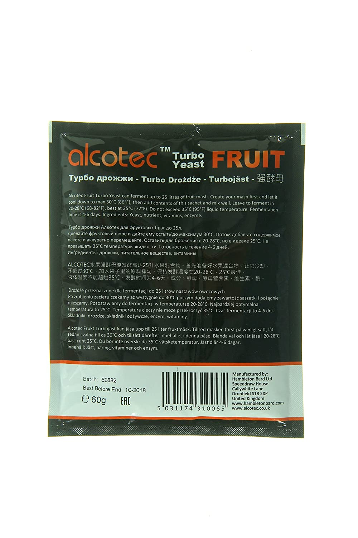 Alcotec fruta Turbo Levadura (Paquete de 2): Amazon.com ...