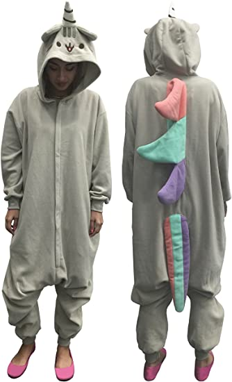 Pusheen Kigurumi Unicorn Adult Hooded Zip Up One Piece Suit (One Size)
