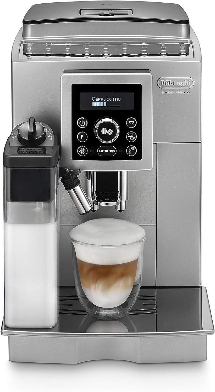 De'longhi ECAM 23.460.SB - Cafetera Supe automática (15 bares de presión, sistema cappuccino automático, depósito de agua extraíble 1.8 L, panel LCD, limpieza automática) Plata/Negro