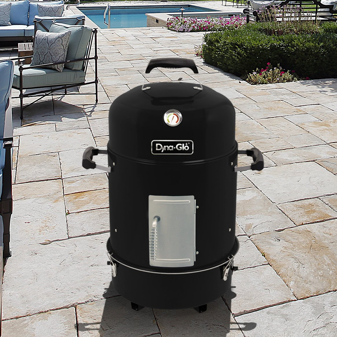 Dyna-Glo DGX376BCS-D  Compact Charcoal Bullet Smoker - High Gloss Black by Dyna-Glo (Image #1)