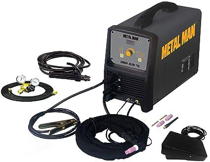 Metal Man Inverter Powered Dual Voltage AC/DC TIG Welder