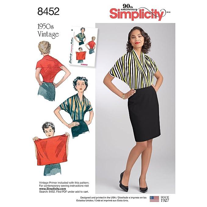 1950s Sewing Patterns | Dresses, Skirts, Tops, Mens Simplicity Vintage Misses Vintage Knit Blouse Pattern A (A (S-M-L) $7.71 AT vintagedancer.com