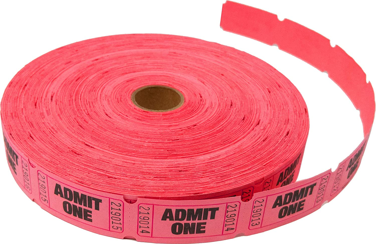 Tacticai 2000 Red Raffle Tickets (8 Colors Available) for Events, Entry, Class Reward, Fundraiser & Prizes (Single Roll - 2