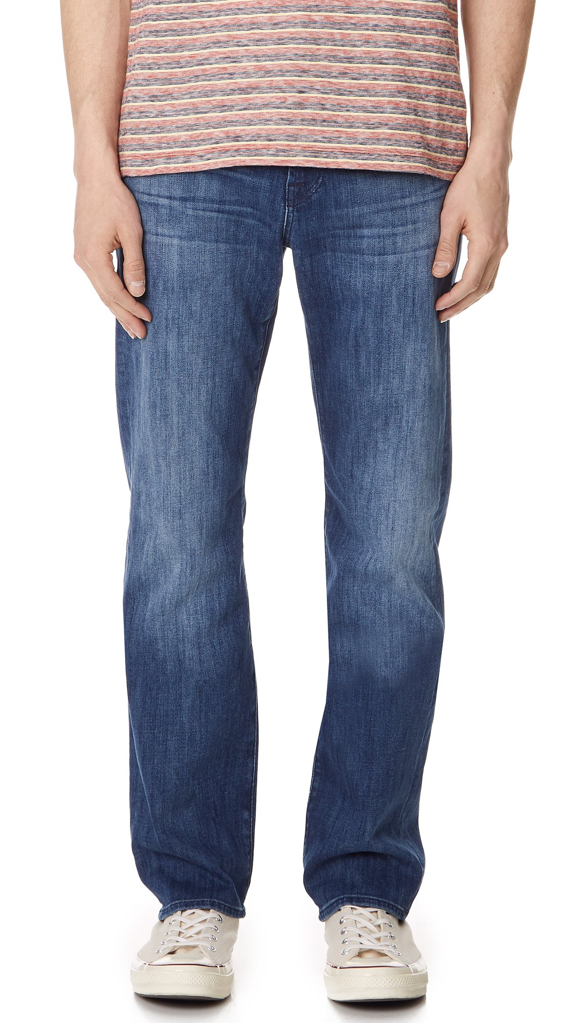7 For All Mankind Men's Austyn Relaxed Straight Luxe Performance Jean, Nakkitta Blue, 30x33.5