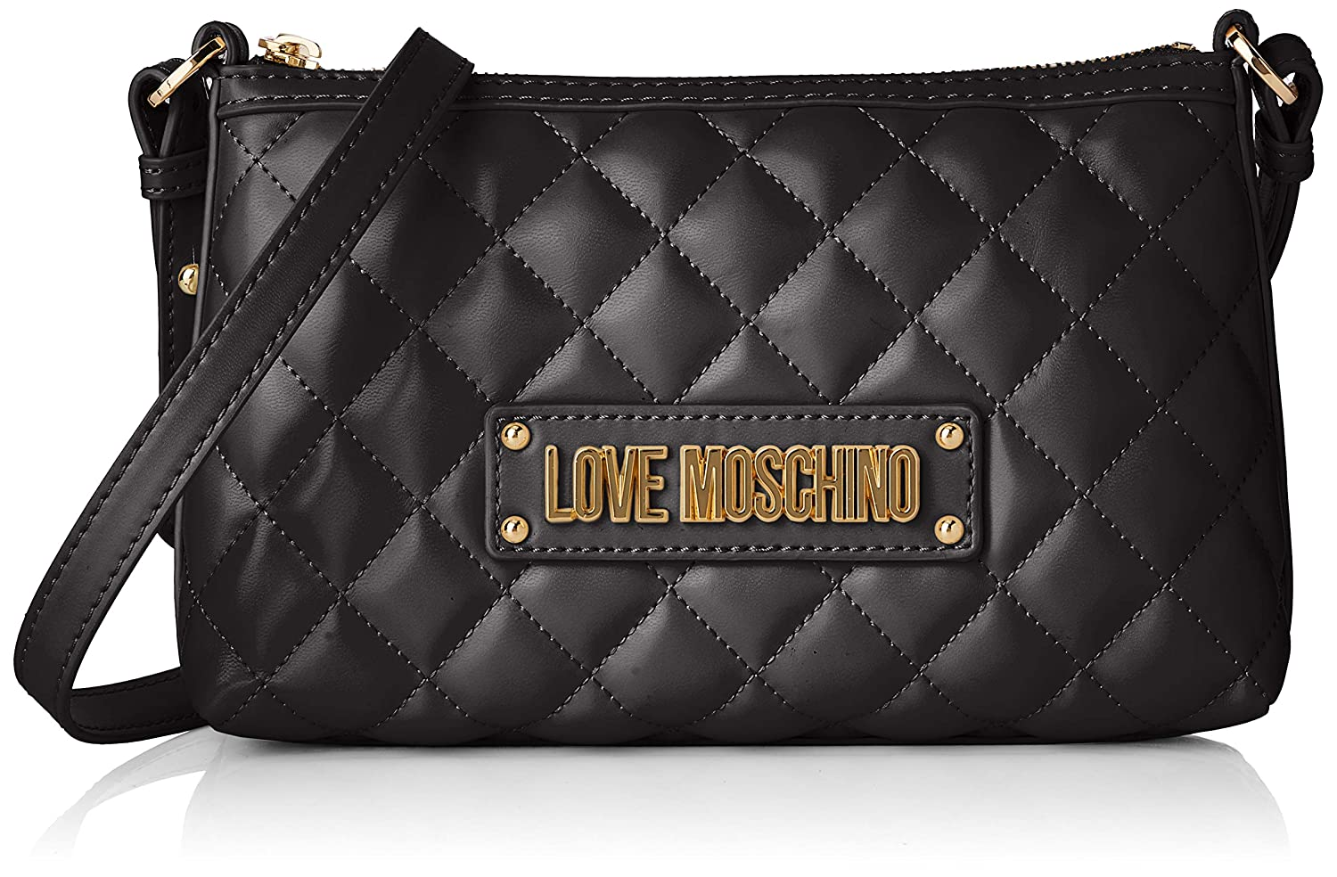 Love Moschino Quilted Nappa Pu, Borsa a Tracolla Donna, 15x10x15 cm (W x H x L)