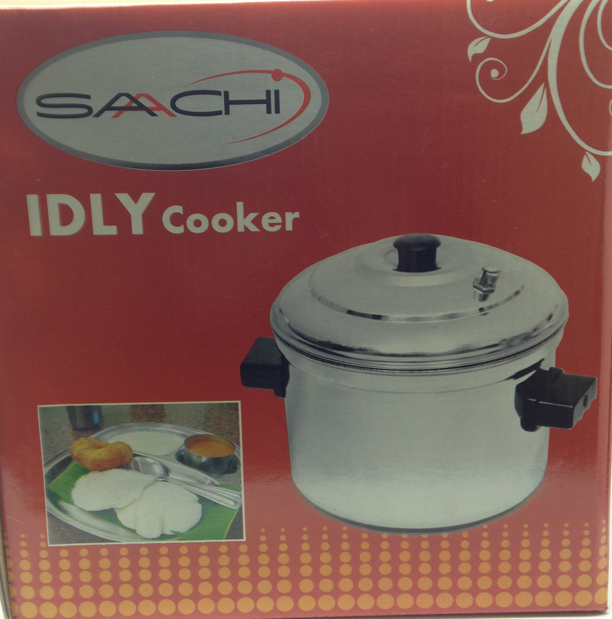 Saachi Stainless Steel Idly Maker Cooker with 4 Idli Stands Makes 16 Idlis (Model SAICM)