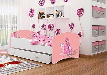 Spielbett Mädchen kinderbett spielbett babybett 140x80 160x80 cm für jungen und