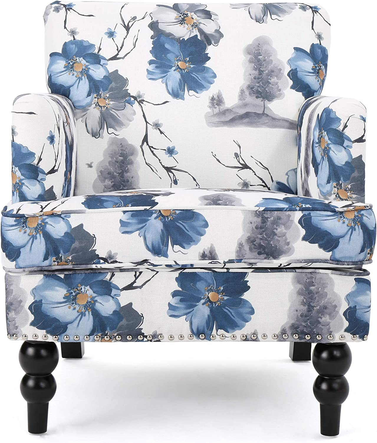 Christopher Knight Home Boaz Fabric Club Chair, Floral Print: Furniture & Decor