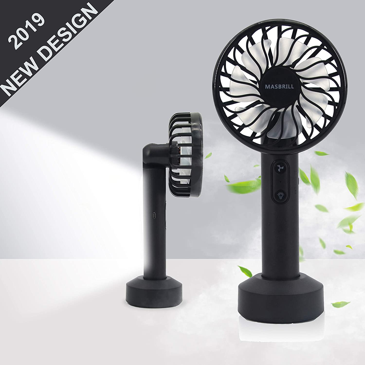 LED Portable Fan, Mini Electric Fan, USB Rechargeable Operated, Little Personal Fan for Handheld and Table Use, Make You Cool When at Travel, Outdoor Activities, Study, Office, Household.