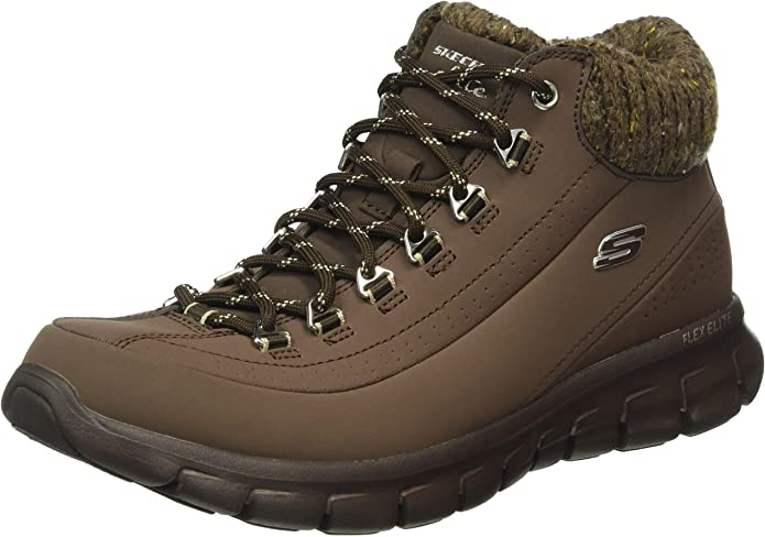 Skechers Synergy Winter Nights Sneakers Stiefel Damen Braun (Chocolate)