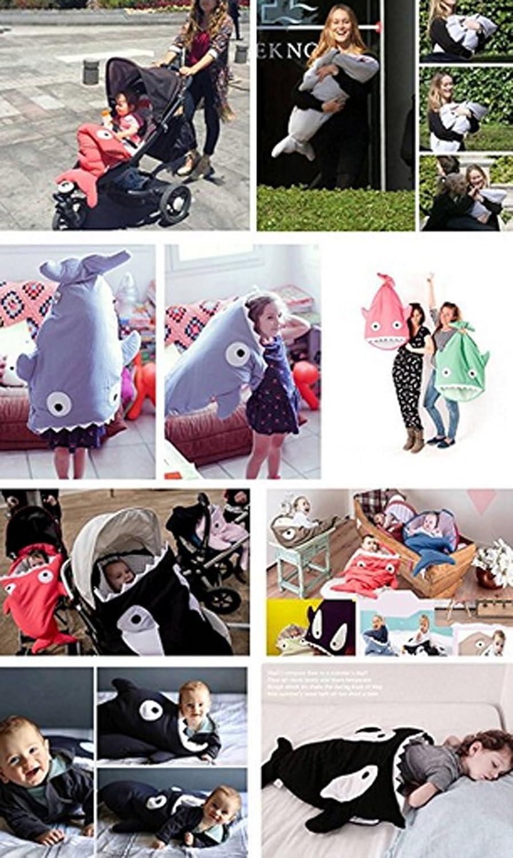 Magike B/éb/é Sac de Couchage Coton Couverture /à Emmailloter Sac Couchage Mignon Requin Epais pour B/éb/é 0-3 ans