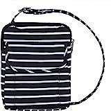 Travelon Anti-Theft Signature Slim Pouch (Black w/White Stripe - Exclusive Color)