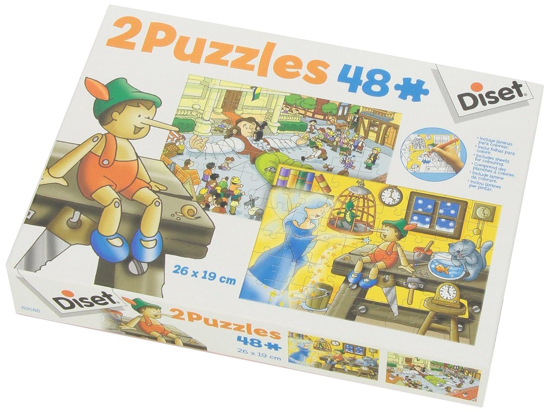 Diset 69586 - 2 Puzzles 48 Pinocho/ Viajes De Gulliver ...