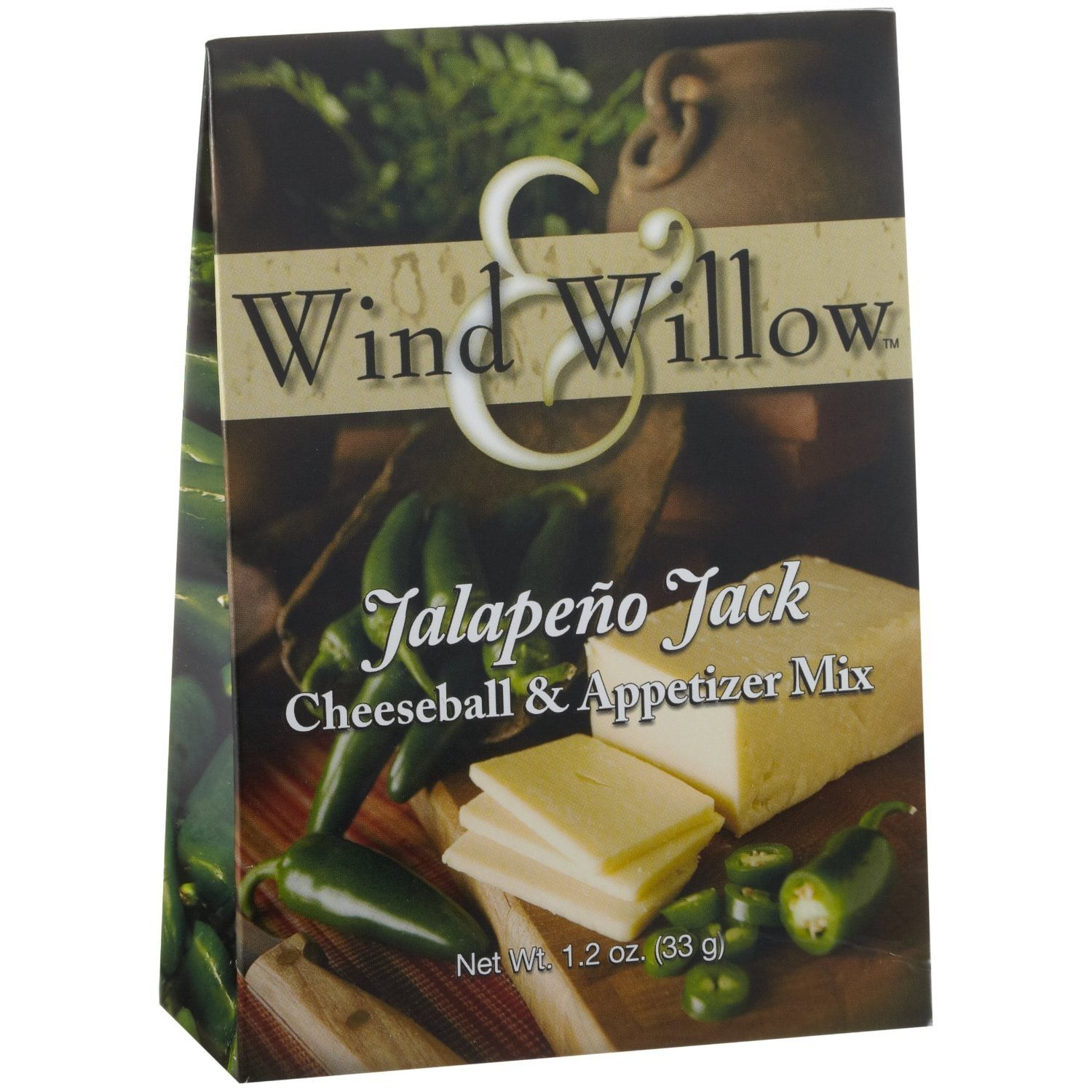 Wind and Willow Jalapeno Jack Cheeseball & Appetizer Mix - 1.2 Ounce (4 Pack) by Wind & Willow