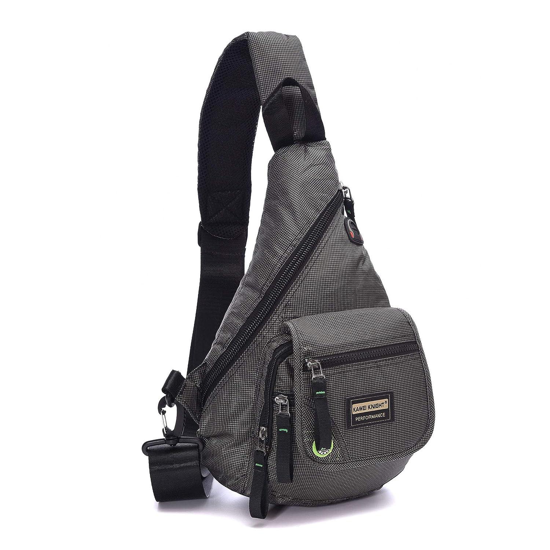 grey Small Sling Bag Shoulder backpack Waterproof Nylon Outdoor Chest Bagpack