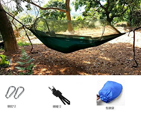 ceslysun camping hammock portable mosquito   hammock tent capacity 400 pounds outdoor foldable tree hammocks for amazon    ceslysun camping hammock portable mosquito   hammock      rh   amazon
