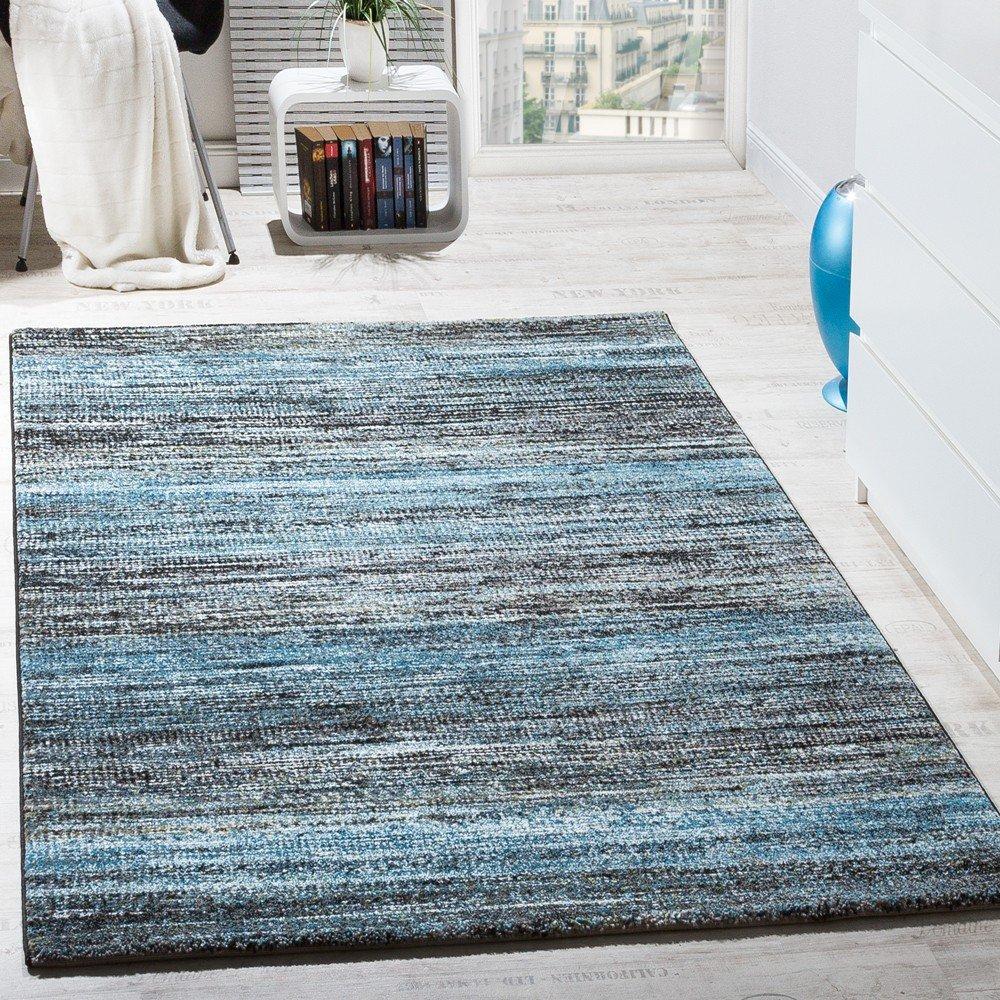 Paco Home Teppiche Modern Wohnzimmer Teppich Spezial Melierung ...