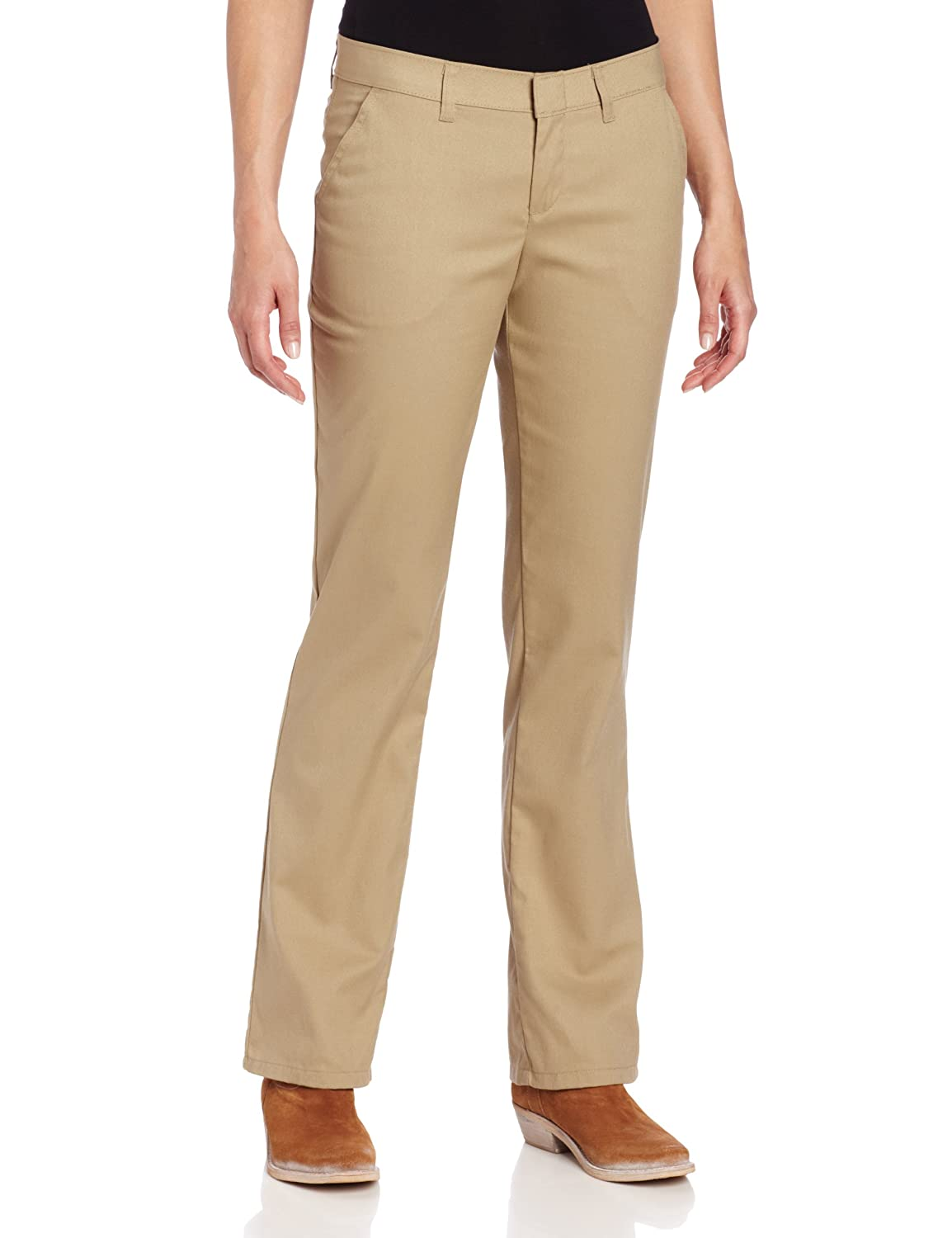 Dickies Womens Wrinkle Resistant Flat Front Twill Pant with Stain Release FP230-RST