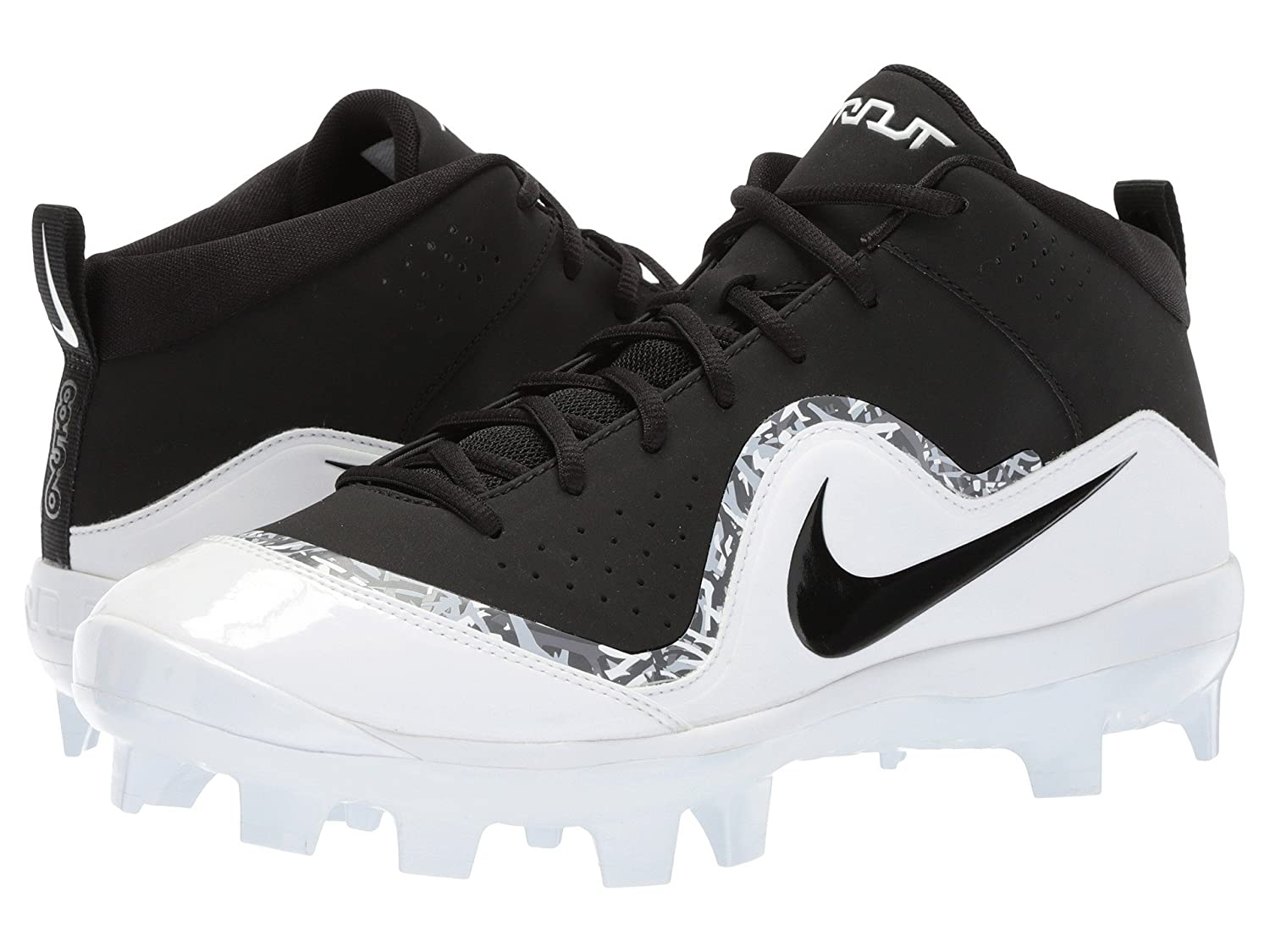 (ナイキ) NIKE メンズ野球ベースボールシューズ靴 Force Trout 4 Pro MCS Black/Black/White/Cool Grey 13 (31cm) D Medium B078Q3KGSP