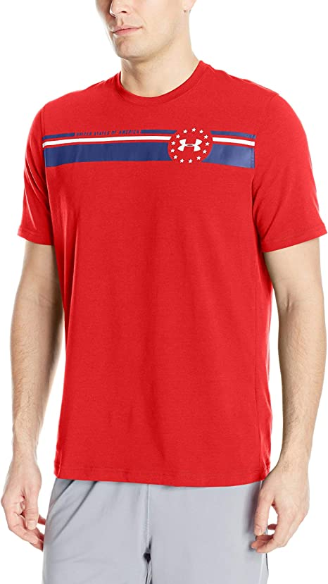 UNDER ARMOUR UA UNITED STATES OF AMERICA FREEDOM BY AIR LOOSE HEATGEAR TEE
