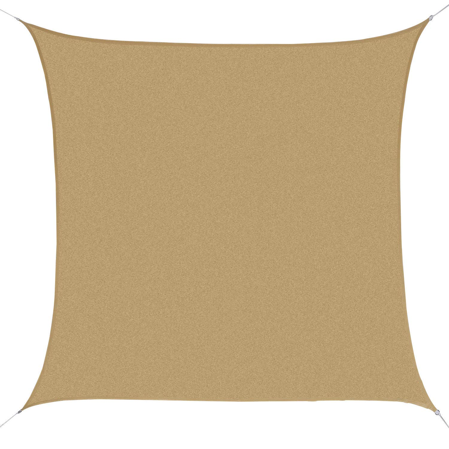 Outsunny 24' Square Outdoor Patio Sun Shade Sail Canopy - Sand